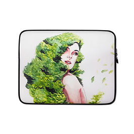 "Laptop sleeve ""Greens"" by Bikangarts"