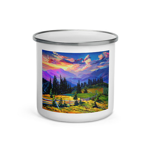 "Enamel Mug ""Sunset"" by ""Gudzart"""