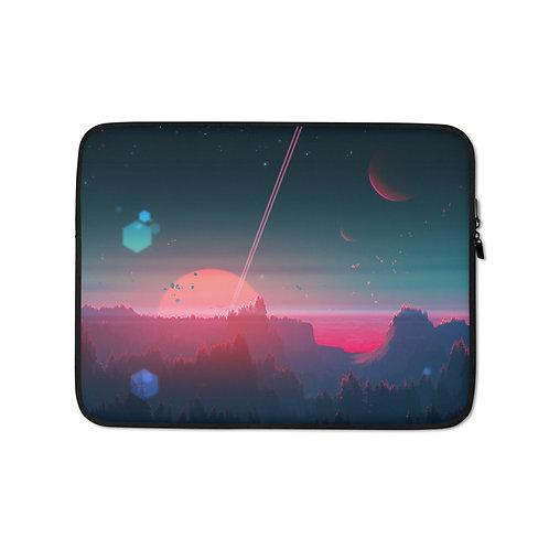 "Laptop sleeve ""Under the Strange Horizon"" by JoeyJazz"