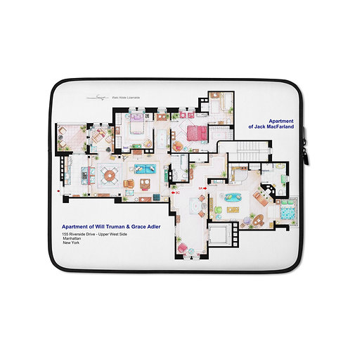 """Laptop sleeve """"Will and Grace"""" by NikNeuk"""