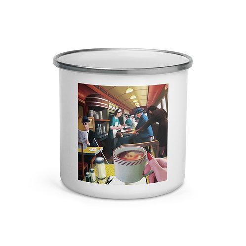 "Enamel Mug ""Blue Plate Special"" by ""JeffLeeJohnson"""