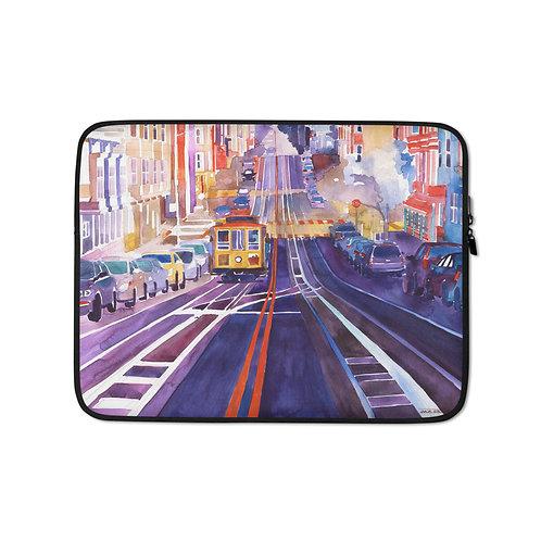 "Laptop sleeve ""San Francisco"" by Takmaj"
