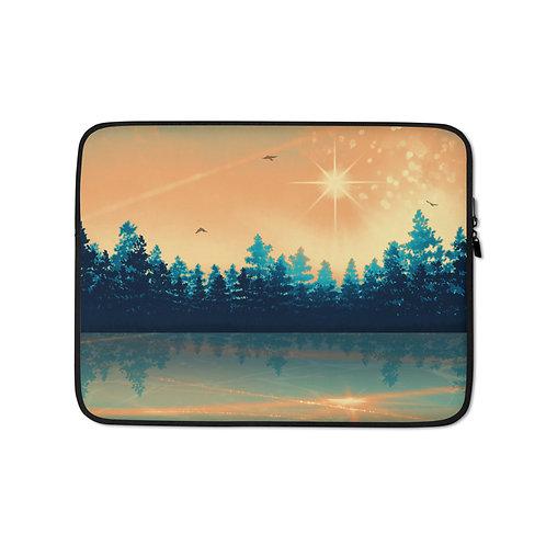 "Laptop sleeve ""Winter Reflection"" by Saddielynn"