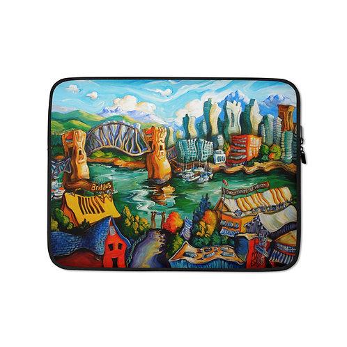 "Laptop sleeve ""Granville Island"" by LauraZee"