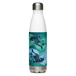 """Water Bottle """"Drown"""" by Astralseed"""