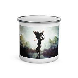 "Enamel Mug ""Discovery"" by ""Aegis-Illustration"""