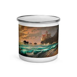 """Enamel Mug """"Cliff House"""" by """"chateaugrief"""""""
