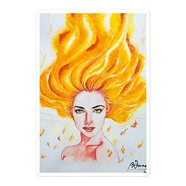 """Stickers """"Burn"""" by Bikangarts"""