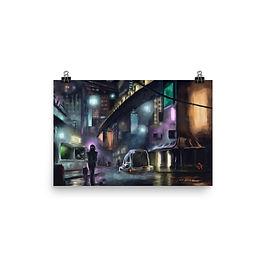 """Poster """"Cyberpunk City"""" by Hymnodi"""