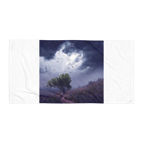 """Beach Towel """"The Strong Tree"""" by Elysekh"""
