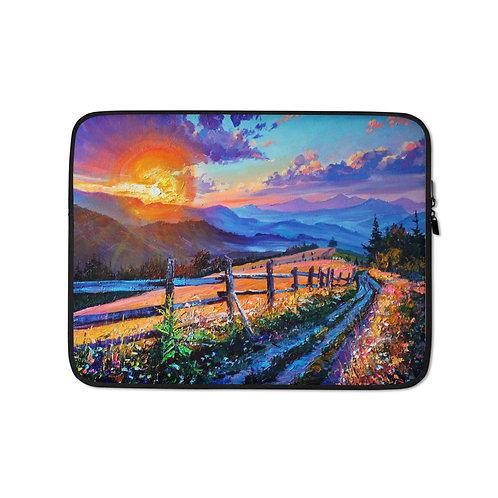 """Laptop sleeve """"Evening Sun"""" by Gudzart"""