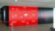 Vodafone-Branchenvideos Videowall