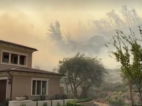 OC 블루릿지 산불, '요바린다 주택가' 위협.. 7만여 가구 대피