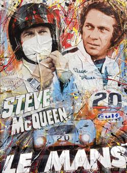 Steve Mc Queen _Le Mans_ 116x89