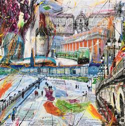 _Promenade dans Bordeaux_ 100x100