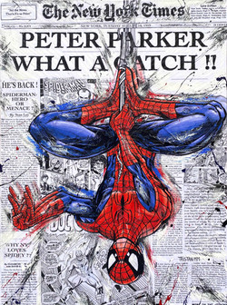 Spiderman New York Times 120x80
