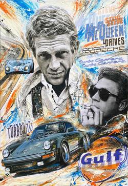 Steve Drives Porsche II 100x73