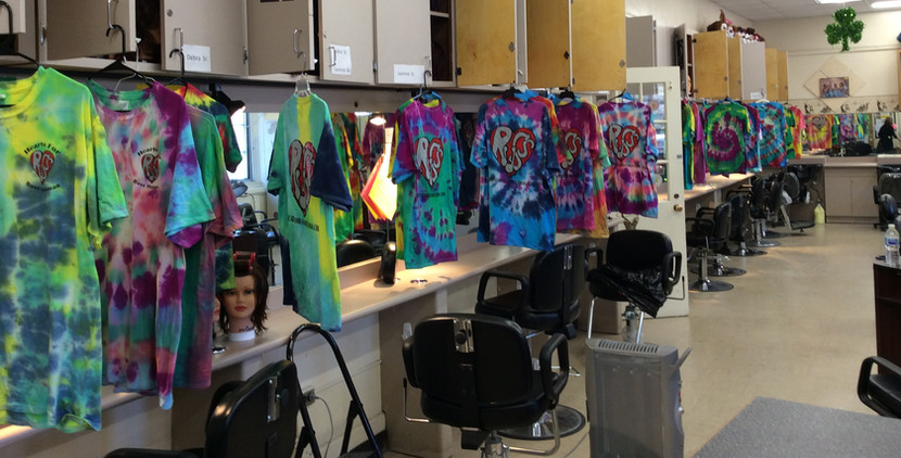 Fundraiser with Cosmetology Students at LI, NY High School
