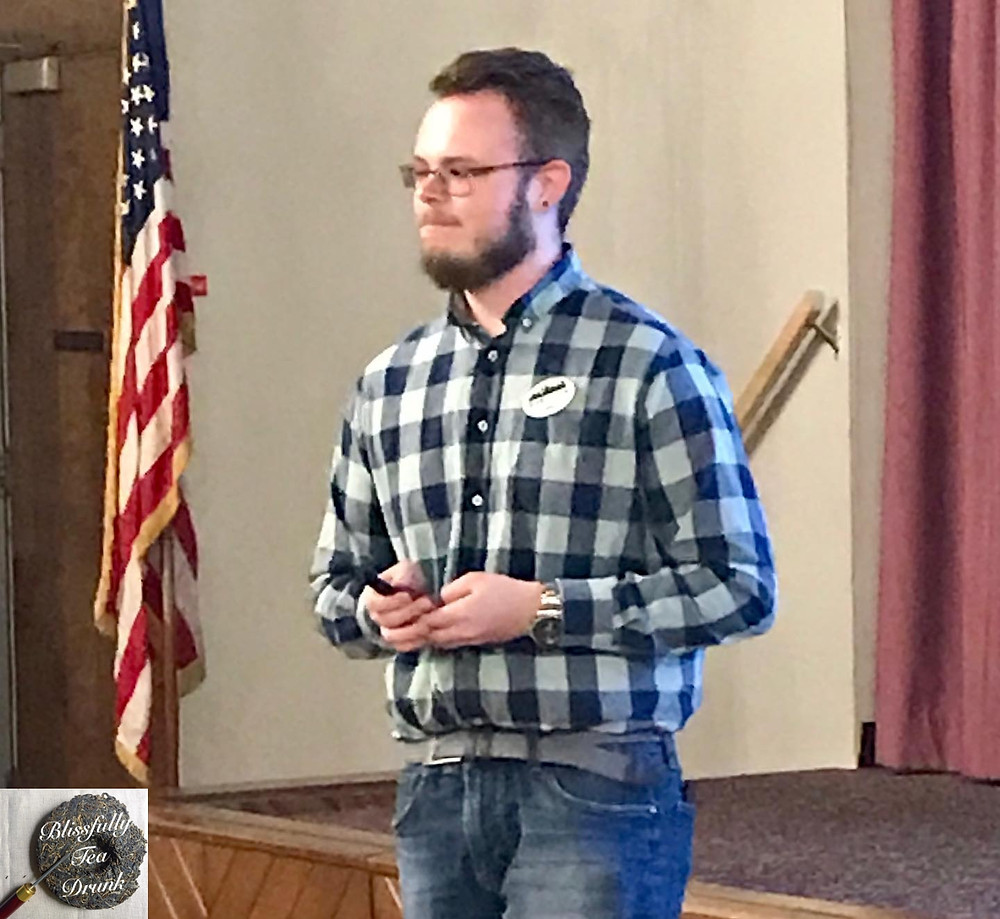 Me, presenting my lecture on marketing at the Mid-West Tea Festival (referenced above).