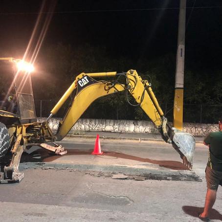 Realizan bacheo en calles deterioradas de Verón-Punta Cana