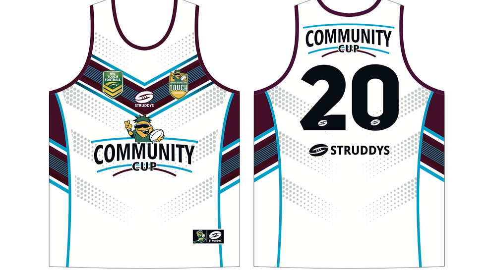 COMMUNITY CUP SINGLET WHITE