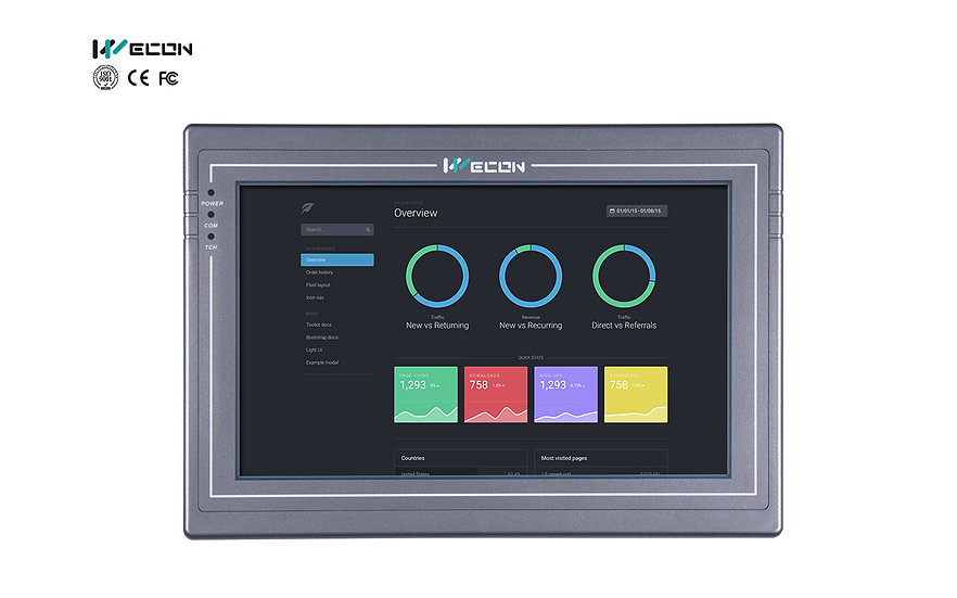 Wecon PI 10.2 inch High Resolution HMI : PI8102H