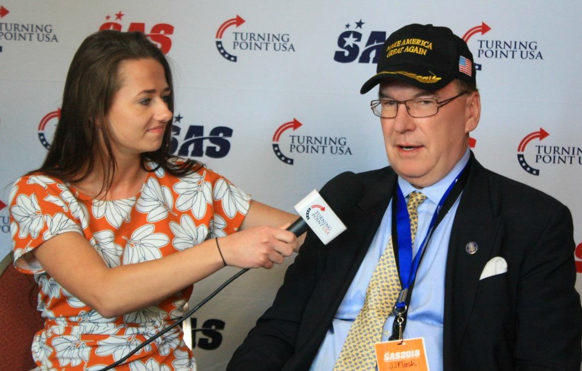 JJ Flash being interviewed by TPUSA
