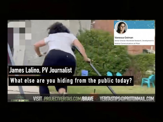 """""""What Else Are You Hiding?"""" – Pfizer Senior Director RUNS From Project Veritas   VIDEOS"""