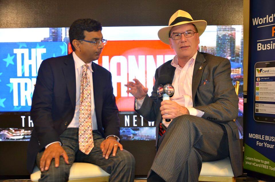 JJ Flash interviewing Dinesh D'Souza