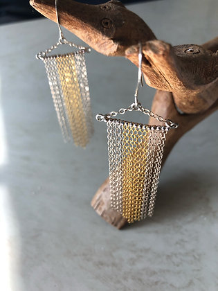 Deco Silver and Gold Chandeliers