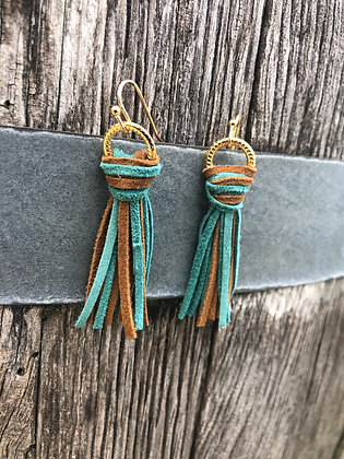 Turquoise and Tan Bohos On Gold