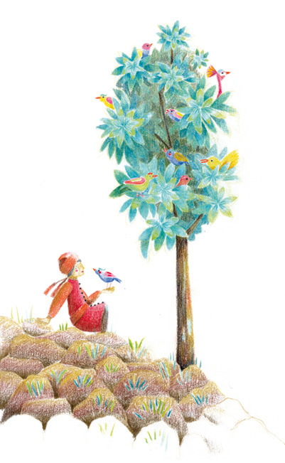 Le petit homme et l'oiseau