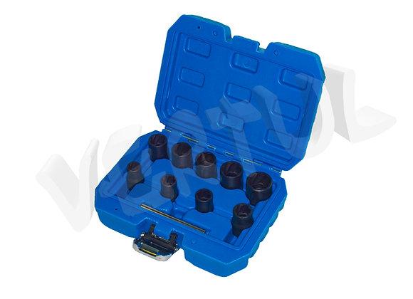Набор головок для поврежденных болтов и гаек 10 пр. Vertul VR50927A