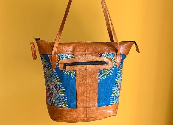 Sjiek Leather Bag Package - turquoise Blue