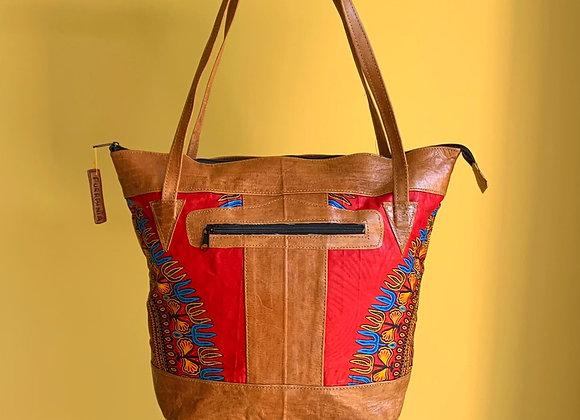 Sjiek Leather Bag Package - sunny Red