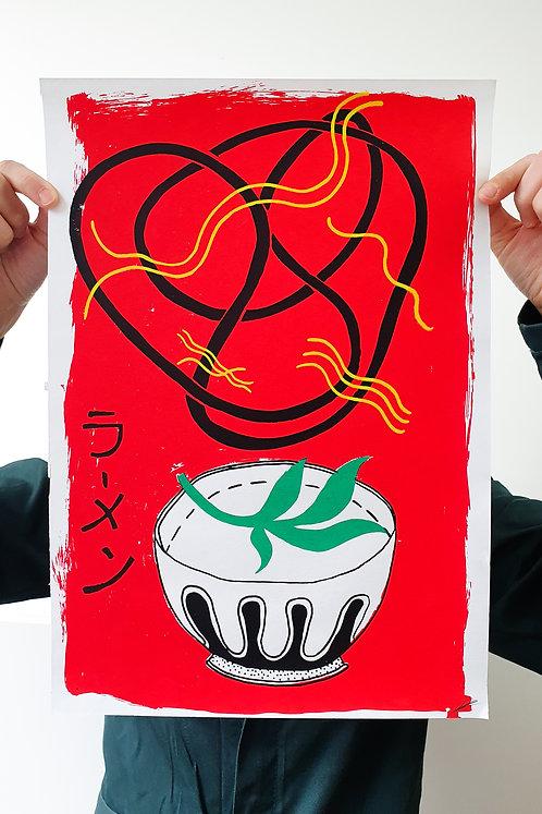 'Ramen Noodles' Silkscreen Print