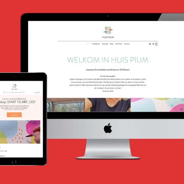Huis Pium webdesign