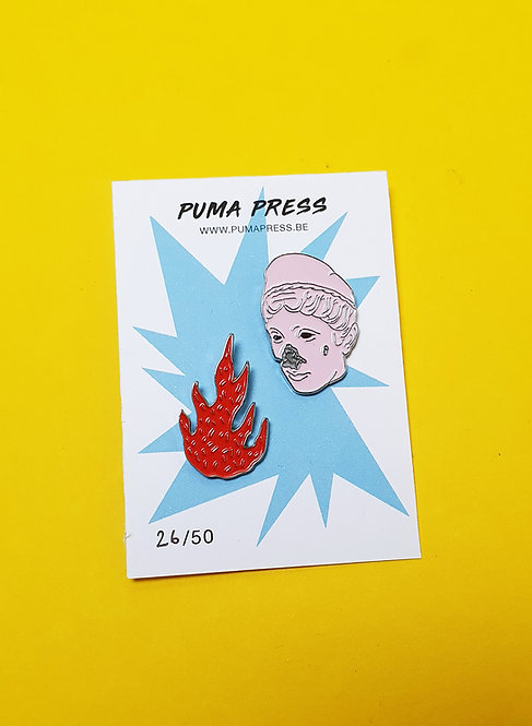 'Burn the witch' Set of 2 Pins