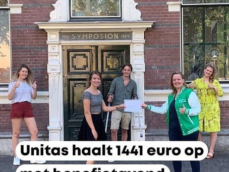 Unitas haalt 1441 euro op met benefietavond