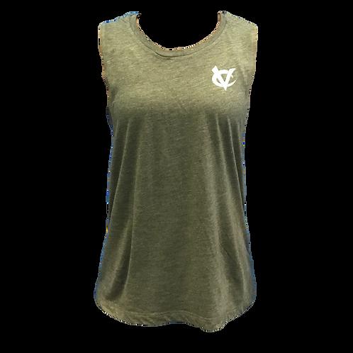 Women's Olive VC Muscle Tank