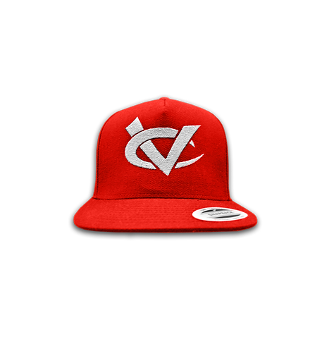 WHITE & RED SNAP BACK