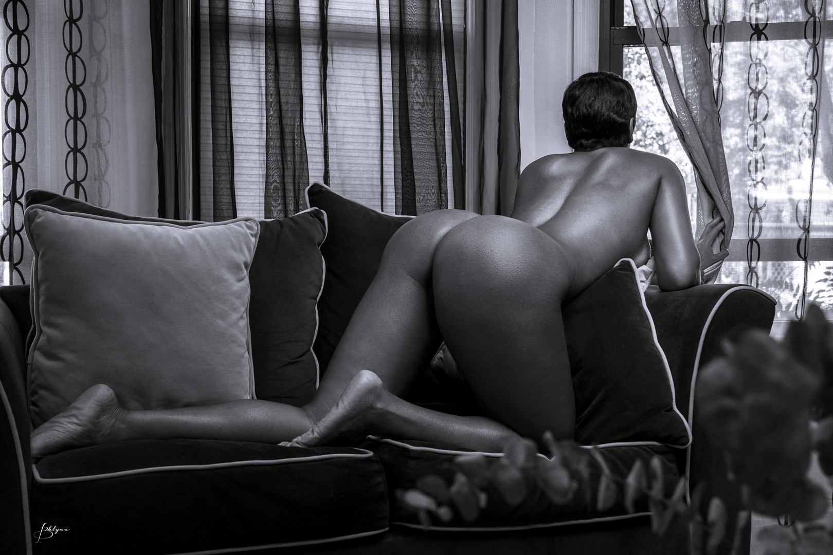 EV NUDE BW COUCH WINDOW