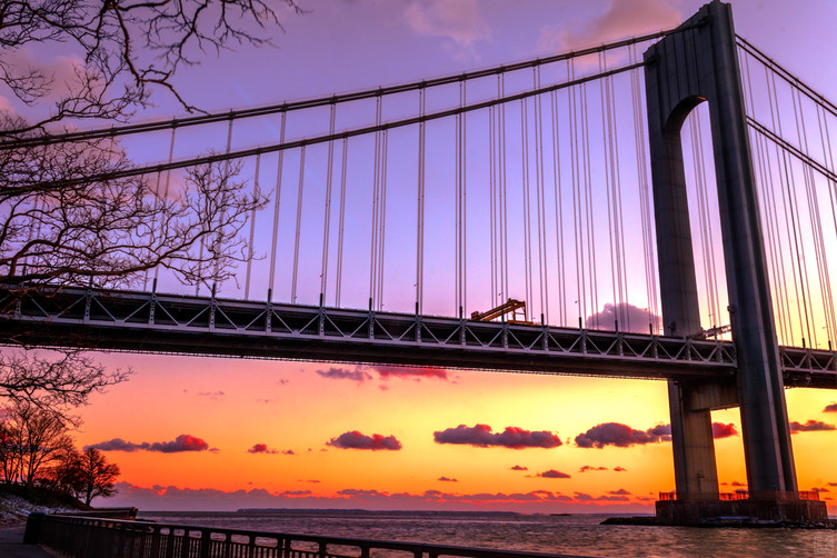 VERRAZANO BRIDGE SUNSET