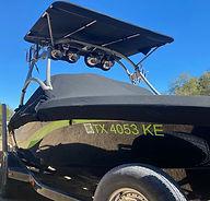 Ski boat after complete detailing