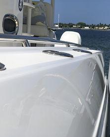 Boat Side After Ceramic Coating Applied