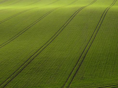 Arial Vue de Green Field