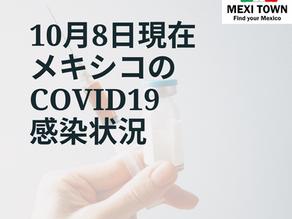 【メキシコCOVID19】10月8日の感染状況