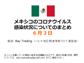 (6月2日現在まで)メキシコの感染状況の最新解説動画を掲載しました。
