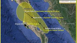 【メキシコニュース】熱帯暴風雨エンリケ(Enrique)による非常に激しい雨に注意!