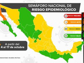 【殆どの州が黄色か緑信号に】10月4日からの経済活動再信号情報と10月1日の感染状況